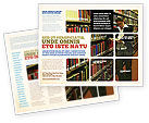 Education & Training: Student In The Library Brochure Template #03732