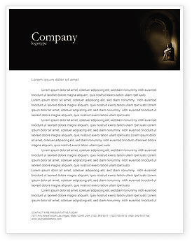 Solitariness Letterhead Template, 03733, Consulting — PoweredTemplate.com