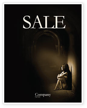 Solitariness Sale Poster Template, 03733, Consulting — PoweredTemplate.com