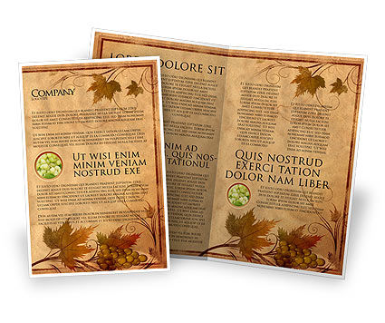 Agriculture and Animals: Autumn Theme in Light Brown Brochure Template #03734