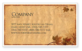 Agriculture and Animals: Autumn Theme in Light Brown Business Card Template #03734