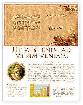 Autumn Theme in Light Brown Newsletter Template, 03734, Agriculture and Animals — PoweredTemplate.com