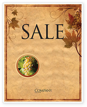 Agriculture and Animals: Autumn Theme in Light Brown Sale Poster Template #03734