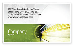 Technology, Science & Computers: Data Stream Business Card Template #03738