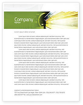 Technology, Science & Computers: Data Stream Letterhead Template #03738