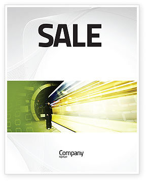 Data Stream Sale Poster Template, 03738, Technology, Science & Computers — PoweredTemplate.com