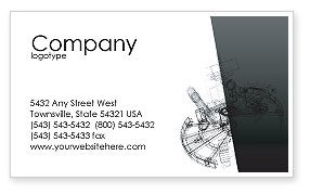 Construction: Construction Sketch Business Card Template #03740