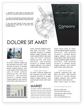 Construction Sketch Newsletter Template, 03740, Construction — PoweredTemplate.com