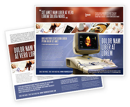 Ultrasound Brochure Template, 03741, Medical — PoweredTemplate.com