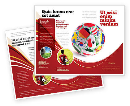World Cup Brochure Template, 03743, Sports — PoweredTemplate.com