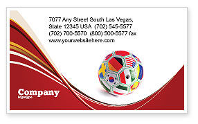 Sports: World Cup Business Card Template #03743