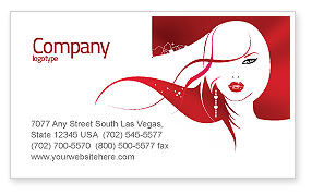 Careers/Industry: Glamour Girl Business Card Template #03744
