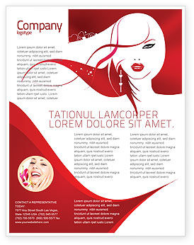 Glamour Girl Flyer Template, 03744, Careers/Industry — PoweredTemplate.com