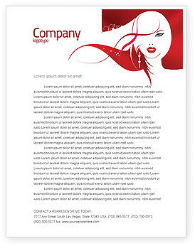 Careers/Industry: Glamour Girl Letterhead Template #03744