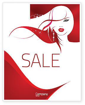 Glamour Girl Sale Poster Template