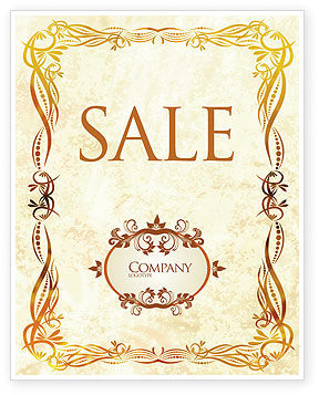 Fanciful Frame Sale Poster Template, 03746, Abstract/Textures — PoweredTemplate.com