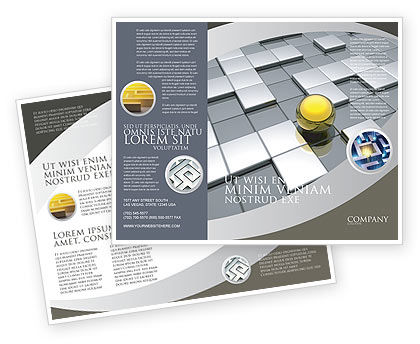 Yellow Ball Brochure Template, 03747, Business Concepts — PoweredTemplate.com