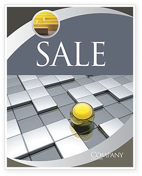 Business Concepts: Yellow Ball Sale Poster Template #03747