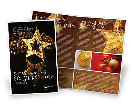 Gold Star Brochure Template, 03748, Holiday/Special Occasion — PoweredTemplate.com