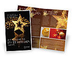 Holiday/Special Occasion: Gold Star Brochure Template #03748