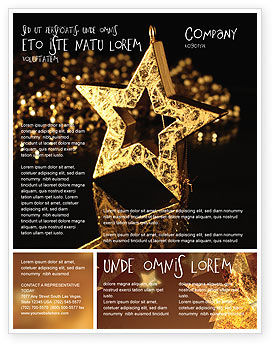 Gold Star Flyer Template