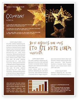 Gold Star Newsletter Template, 03748, Holiday/Special Occasion — PoweredTemplate.com
