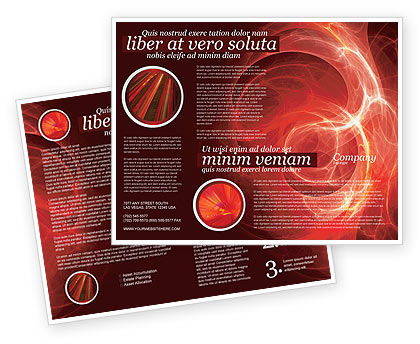 Red Fantasy Brochure Template, 03749, Abstract/Textures — PoweredTemplate.com