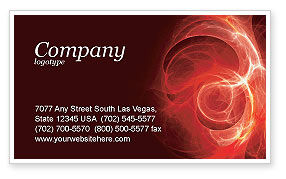 Red Fantasy Business Card Template, 03749, Abstract/Textures — PoweredTemplate.com