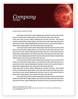 Red Fantasy Letterhead Template