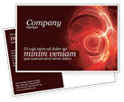 Abstract/Textures: Red Fantasy Postcard Template #03749