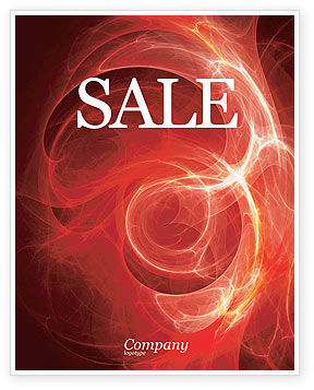 Abstract/Textures: Red Fantasy Sale Poster Template #03749