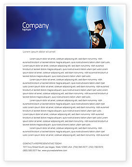 People: Paid Education Letterhead Template #03753