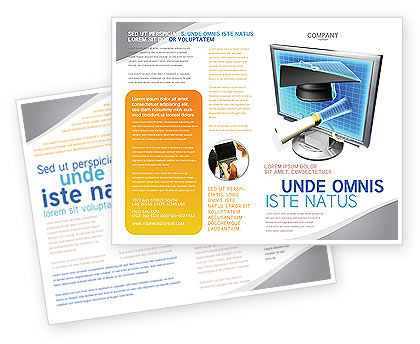 Visual education brochure template design and layout for Education brochure templates