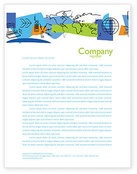 Information Range Letterhead Template, 03755, Telecommunication — PoweredTemplate.com
