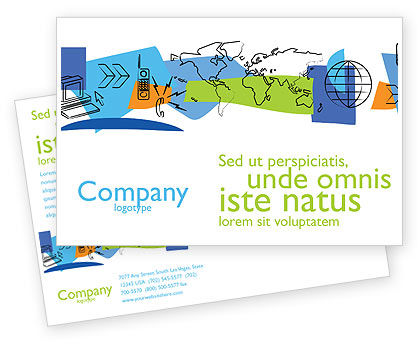 Information Range Postcard Template