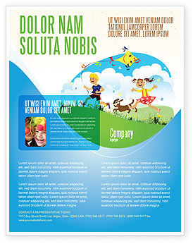 Education & Training: Happy Childhood Flyer Template #03756