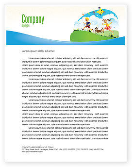 Education & Training: Happy Childhood Letterhead Template #03756