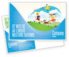 Education & Training: Happy Childhood Postcard Template #03756
