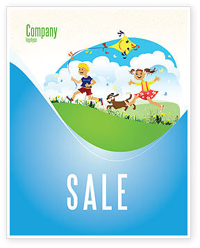 Happy Childhood Sale Poster Template, 03756, Education & Training — PoweredTemplate.com