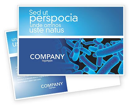 Medical: Bacillus Postcard Template #03757