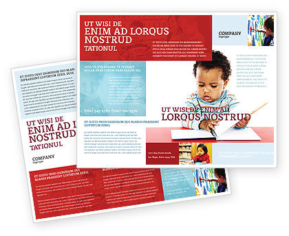kid learning brochure template 03759 education training poweredtemplatecom