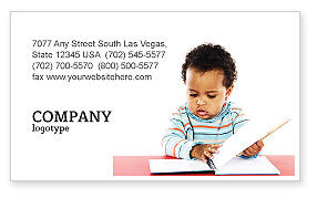 Kid Learning Business Card Template