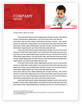 Kid Learning Letterhead Template, 03759, Education & Training — PoweredTemplate.com