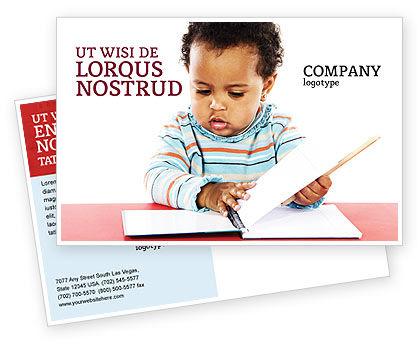 Kid Learning Postcard Template