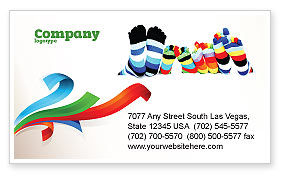 General: Rainbow Socks Business Card Template #03760