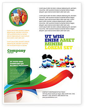General: Rainbow Socks Flyer Template #03760