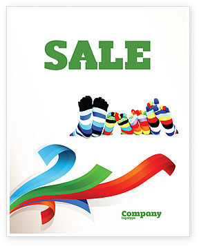 rainbow socks sale poster template in microsoft word publisher and