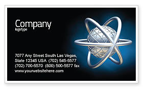 Atom Model Business Card Template, 03763, 3D — PoweredTemplate.com