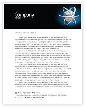 Atom Model Letterhead Template, 03763, 3D — PoweredTemplate.com
