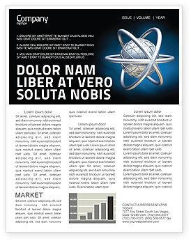 Atom Model Newsletter Template, 03763, 3D — PoweredTemplate.com
